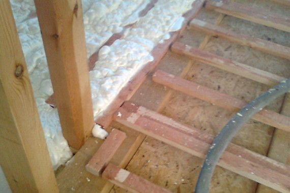 tepelná izolace podlahy, stříkaná izolace, PUR izolace, PUR pěna