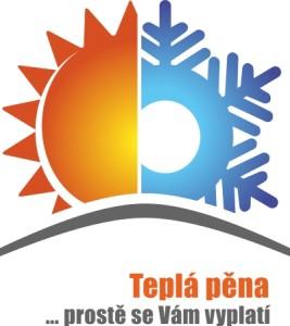 Teplá pěna logo