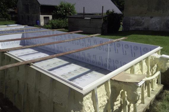 tepelná izolace bazénu, PUR izolace, PUR pěna, Stříkaná izolace