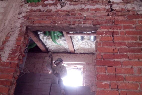 stříkaná izolace, Izolace stropu, PUR pěna