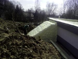 tepelná izolace ploché střechy vodárny, stříkaná izolace, chytrá izolace