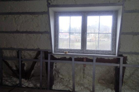 stříkaná izolace stěny, chytrá izolace, PUR pěna, teplá pěna