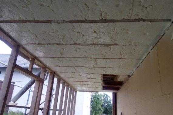 stříkaná izolace verandy, PUR pěna, izolace pěnou