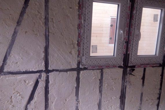 stříkaná izolace, zateplení domu, zateplení stěn, PUR pěna, izolace pěnou